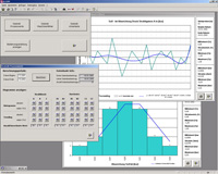Statistics program for quality management used for the treatment of aero-engine parts.