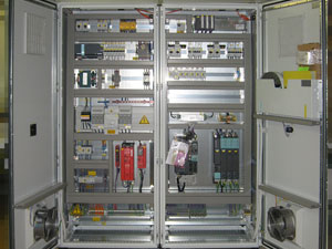 Power cabinet before delivery