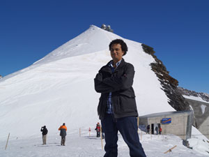 On the top of Jungfraujoch