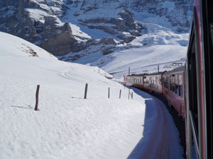 On the way to Jungfraujoch